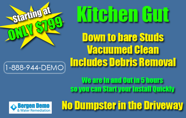 Kitchen Demolition bergen county